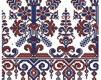 Traditional vintage ornament for cross stitch