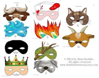 Price Reduced ** Chad Gadya Passover Pesach Seder Masks