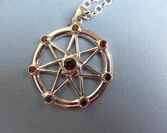 Garnet Fairy Crystal Necklace