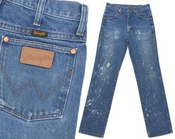 9afb53c5e4 Vintage Wrangler Jeans Mens Womens Distressed Western Cowboy Jeans Destroyed  Wranglers Slim Fit Jeans Vintage Ranchwear Denim Jeans 28 X 31