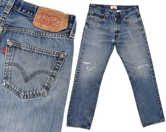 Vintage Levis 501 Jeans Mens Destroyed Levis 501 J