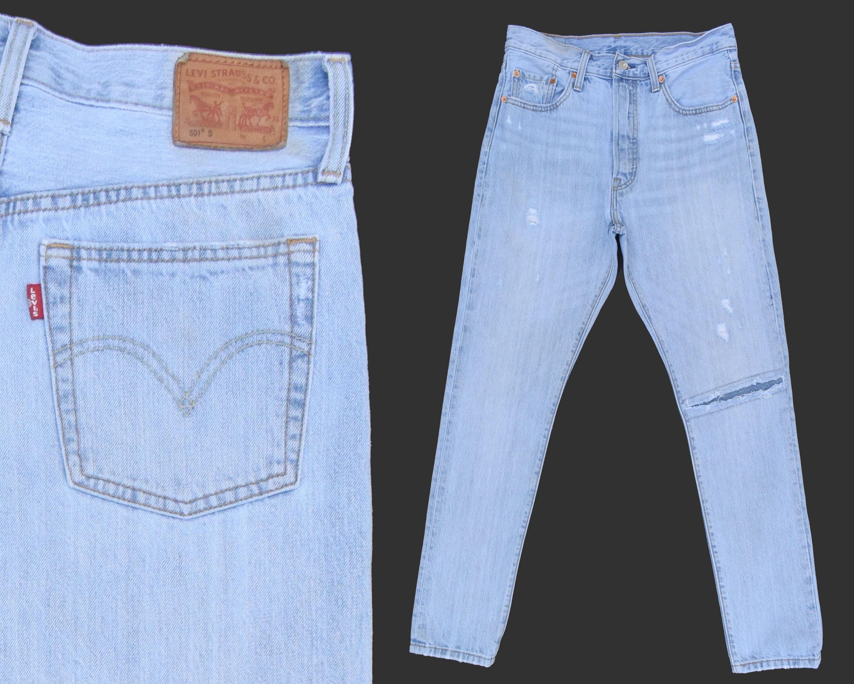 Womens Levis 501 Jeans Distressed Levis Patched Levis High   Etsy 849dbd16b1