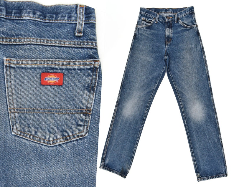 c8a8a5aea9e Vintage Denim Jeans Dickies Jeans Mens Denim Workwear Jeans