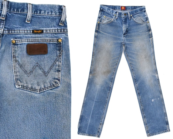 Vintage Wrangler Jeans Distressed Faded Wrangler W