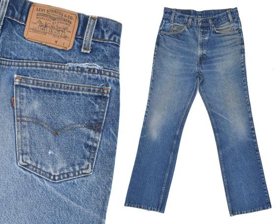 70s Vintage Levis 517 Jeans Orange Tab Distressed Levis Jeans   Etsy ad90cdd2d8