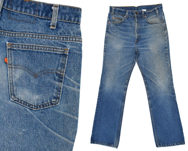 bdb2517b26b Vintage Levis Jeans Mens Orange Tab Levis 517 Distressed Levis | Etsy