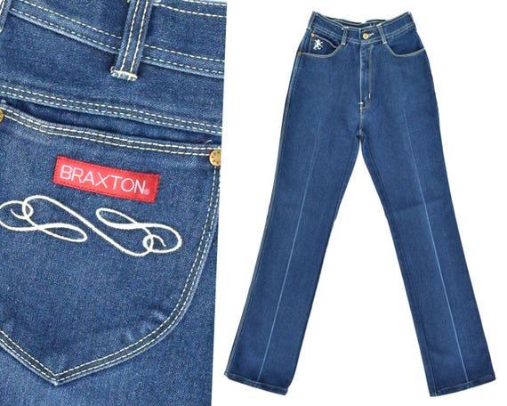 70s High Waist Jeans Mom Jeans Dark Denim Jeans BR