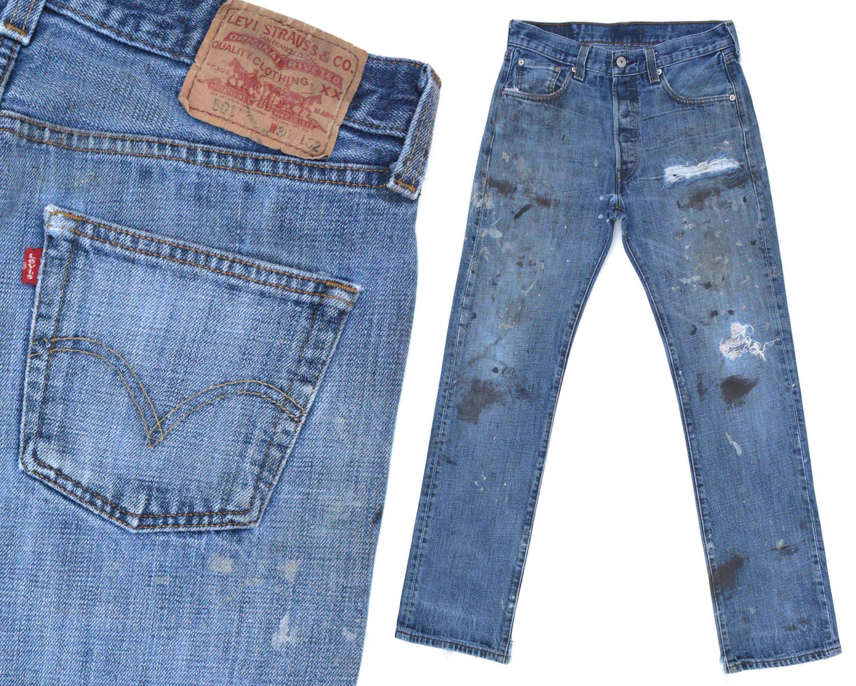 vintage levis 501 jeans pour homme d truit levis 501 jeans etsy. Black Bedroom Furniture Sets. Home Design Ideas