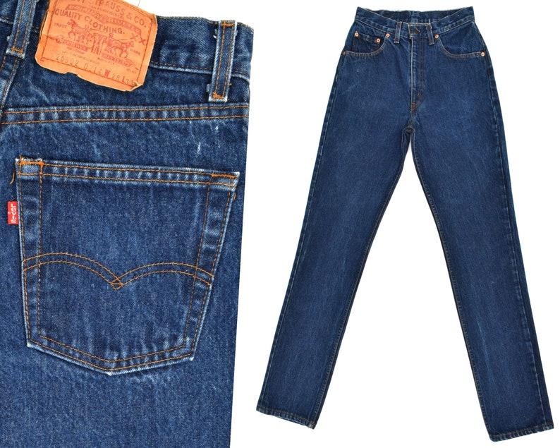 2d784a79048 Vintage Levis Jeans High Rise Levi 502 Mom Jeans Dark Denim   Etsy