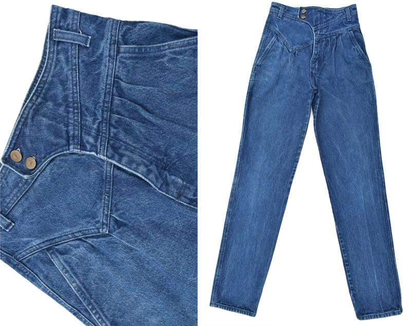 6752f9ca Womens Vintage Wrangler Jeans Super High Waist Jeans Slim Fit | Etsy