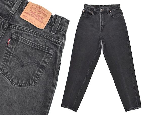80s Vintage Levis Jeans Womens High Rise Black Lev