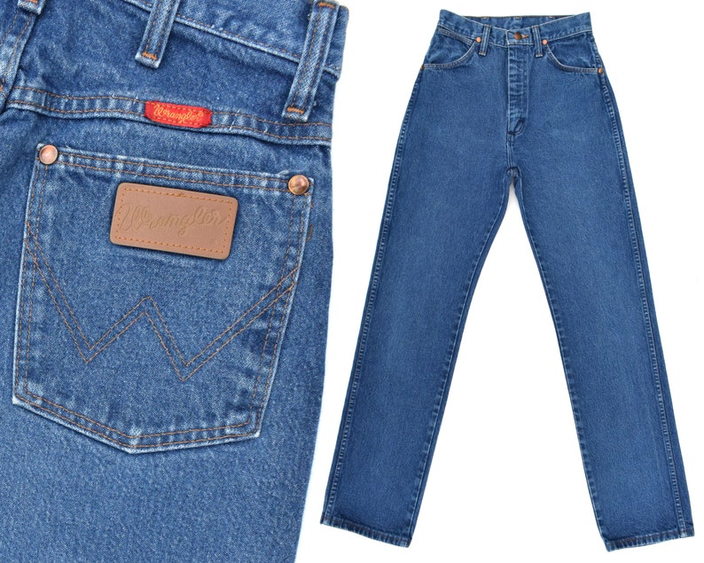 31850ea6e6 Vintage Wranglers Jeans Womens High Waist Jeans Slim Fit Jeans | Etsy