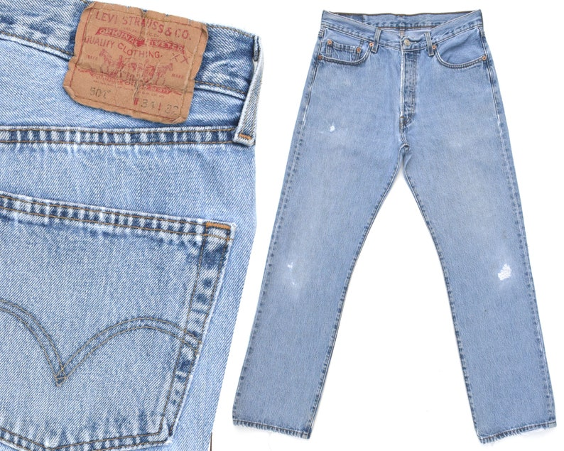 6fd42759 Vintage Levis 501 Jeans 70s Destroyed Levi 501 Jeans Mens Levi | Etsy
