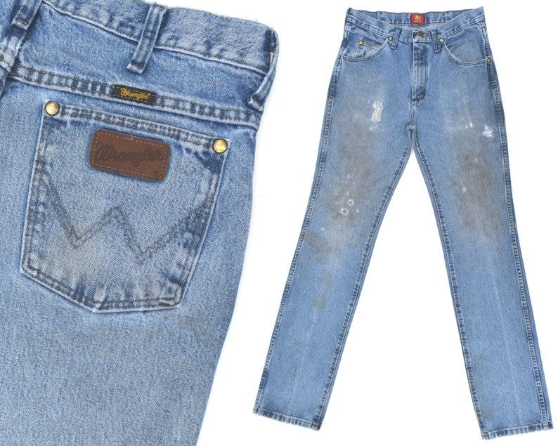 c0761b86ae61a Vintage Wrangler Jeans Distressed Destroyed Wrangler Western