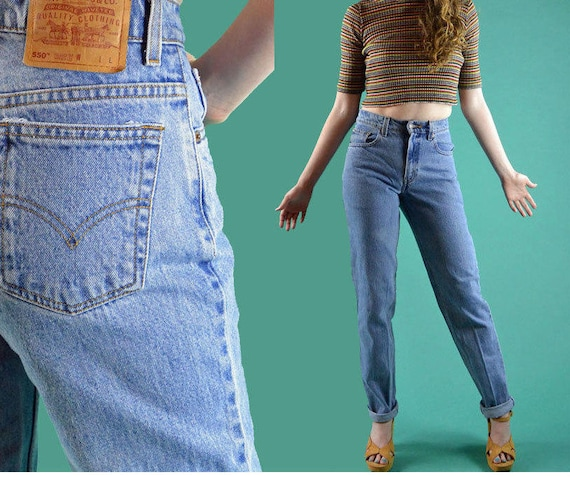 80s Vintage Levis Jeans High Waisted Jeans Womens Levis 550  a611ef5be885