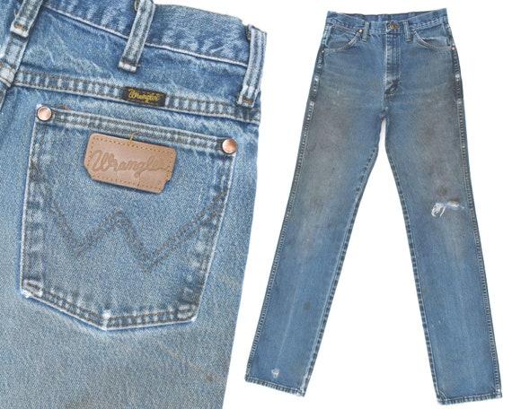 6cfbfa7e Vintage Wrangler Jeans Distressed Destroyed Wranglers Western | Etsy
