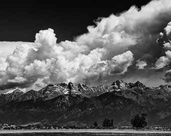 Mountain photo, mountain wall decor, storm photo, Colorado landscape, Rocky Mountains photo, clouds art, stormy dramatic photo, nature decor