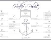 Items similar to Nautical Wedding Seating Chart, PRINTABLE