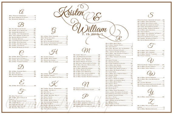 items similar to wedding seating chart  table seating  assignments  reception tables  wedding