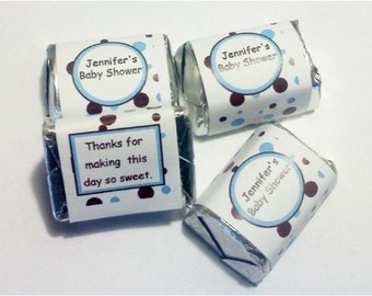 Blue and Brown Dot Wrappers