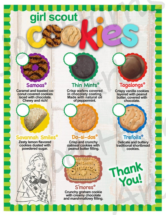 2018 Lbb Girl Scout Cookie Price List Gs Cookie Booth Menu -8630