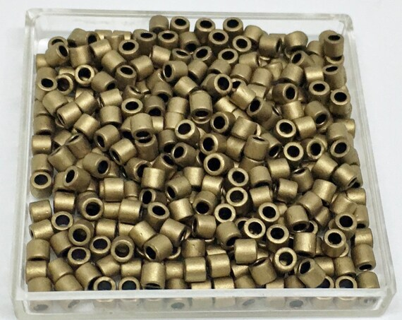 Miyuki Matte Metallic Dark Bronze Treasure Beads, Cylinder 8/o Delica Beads, Miyuki Color DBL-0322, 3 Inch Tube