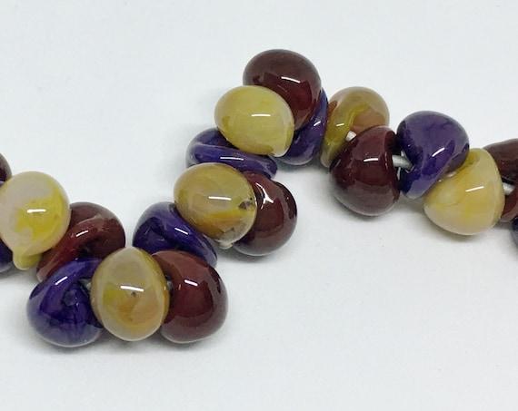 Vieux Carre Unicorne Boro Teardrops, 25 Beads per Strand,  Vieux Carre Mix Teardrop Beads