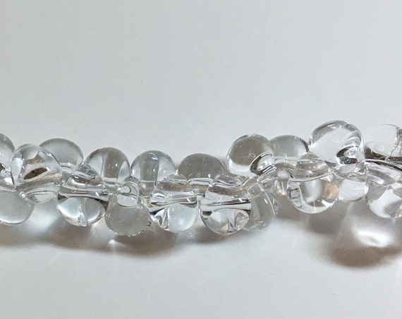 Crystal Clear Unicorne Beads, Boro Teardrops, 25 Beads Per Strand