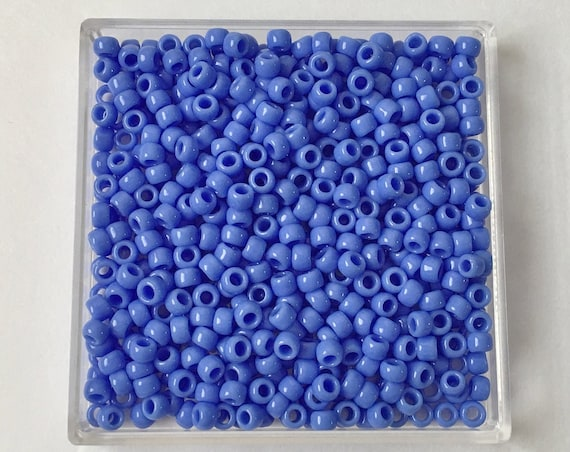 TOHO Opaque Periwinkle, Size 8 Round Seed Beads, Color 48L, Periwinkle Blue Opaque
