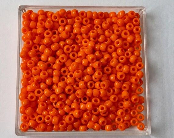 TOHO Opaque Cantaloupe, Size 8 Round Seed Beads, Color 42D, Cantaloupe Light Orange Opaque