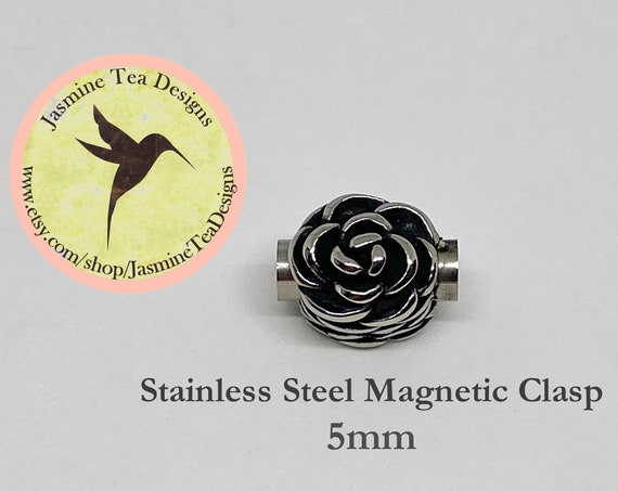 Stainless Steel 4mm Magnetic Clasp, Flower Petal Magnetic Clasp, 4mm Magnetic Clasps