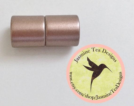 Copper 8mm Magnetic End Cap Clasp, Matte Copper, Acrylic Magnetic Clasp