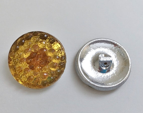 Honey Comb Design Button, 27mm Shank Button, Czech Glass Button