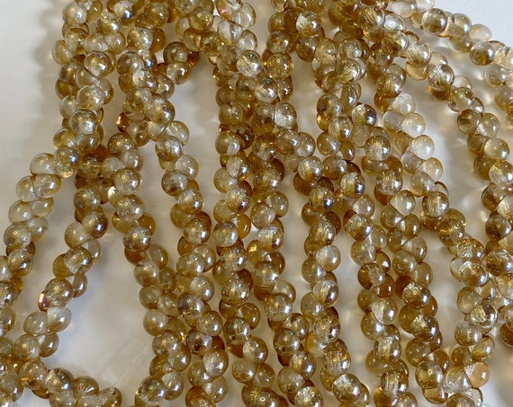Sapphirite 4x4mm Mushroom Beads, 50 Beads Per Strand, A Rare Size