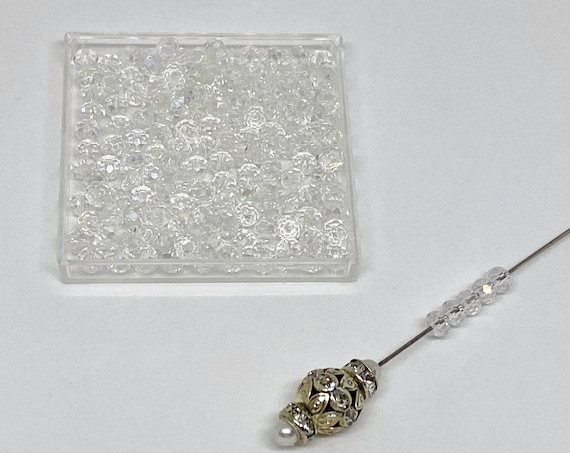 Crystal Clear 2x4mm Crystal Rondelles, 150 Chinese Crystals Per Strand