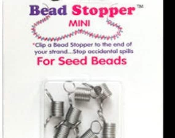 Bead Stopper Mini, 8 Bead Stoppers, Regular 1/4 Inch Size Bead Stoppers
