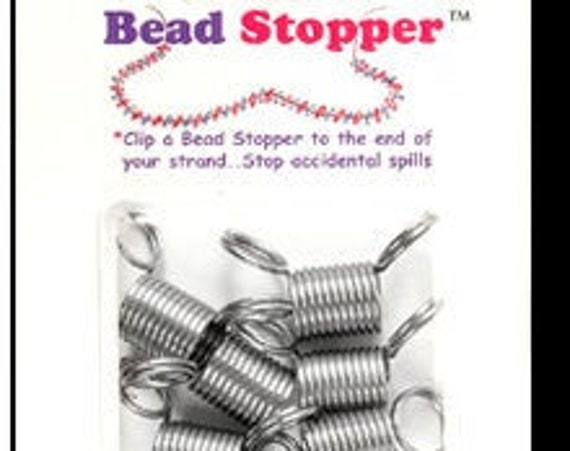 Bead Stoppers, 6 Bead Stoppers, Regular 1/2 Inch Size Bead Stoppers