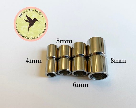 Stainless Steel Magnetic Clasps, Non-Tarnish Magnetic Clasps, Available in 4 Sizes, Clasps For Kumihimo And Leather
