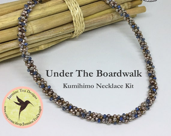 Under The Boardwalk Beaded Kumihimo Necklace Kit, Loading Instructions Included, Beads And Clasp Included