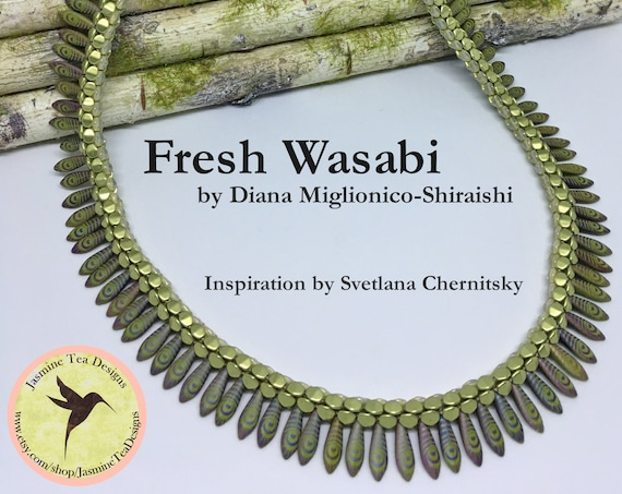 Fresh Wasabi Fully Beaded Kumihimo Necklace, 22 Inch Kumihimo Necklace, Pinch Bead And Laser Etched Daggers Necklace