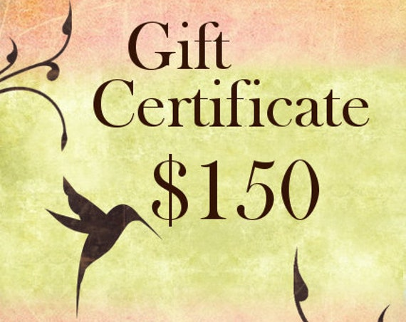 One Hundred Fifty Dollar Gift Certificate For Shopping At Jasmine Tea Designs Etsy Shop
