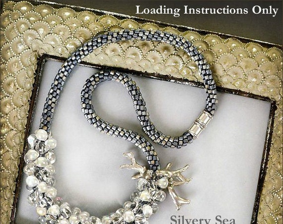 PDF Kumihimo Pattern, Silvery Sea Beaded Kumihimo Necklace Loading Instructions, Loading Instructions Only, Instant Download