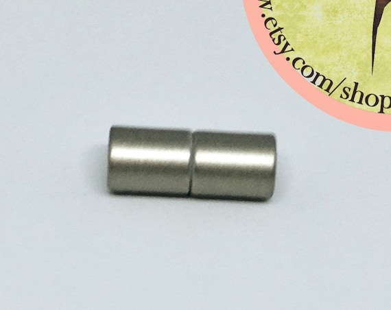 Stainless 6mm Matte Magnetic End Cap Clasp, Matte Stainless, Acrylic Magnetic Clasp
