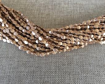 Pinch Beads Czech Glass 5x3mm 01740 Brass Gold 50 Beads