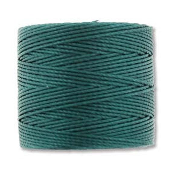 Green Blue Tex 210 S Lon Beading Cord, 77 yard spool C Lon Beading Cord, Nylon Beading Cord