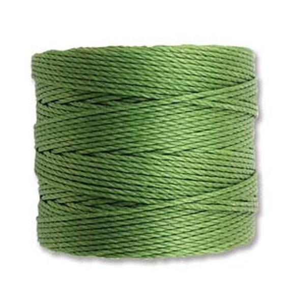 Avocado Tex 210 S Lon Beading Cord, 77 yard spool C Lon Beading Cord, Nylon Beading Cord