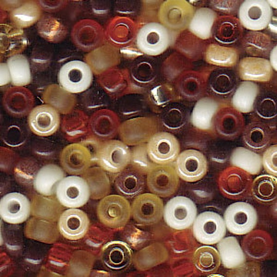 Miyuki Wheat Berry Blend, Size 8 Seed Bead Mix in Amber, Orange and Ginger Tones, Miyuki Seed Bead Mix, 5 Inch Tubes, 22 Grams