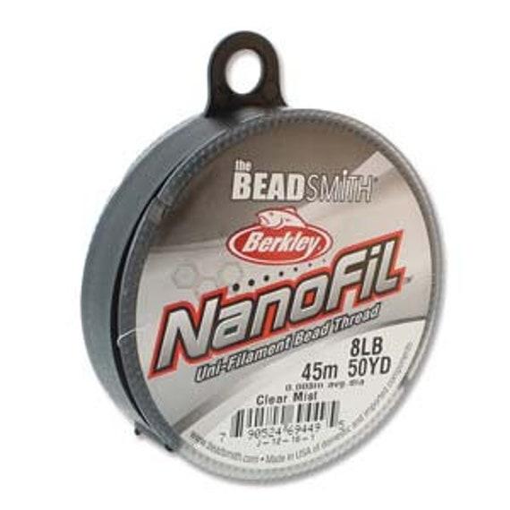 Nanofil, Uni-Filament Bead Thread in Clear Mist, 8lb Test, 50 Yard Spools