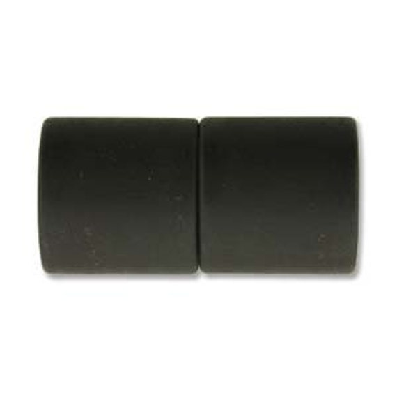 Black 10mm Magnetic End Cap Clasp, Matte Black, Acrylic Magnetic Clasp