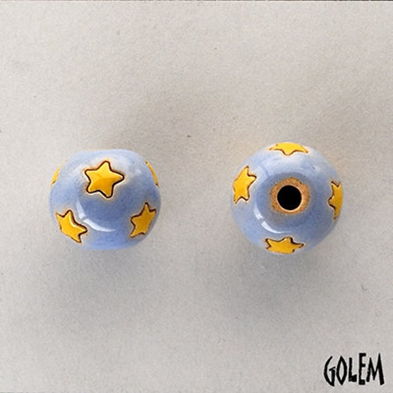 Stars In The Morning Sky Beads, Hand Carved Star Beads, Large Hole Beads For Kumihimo, Spacer Beads, Golem Beads